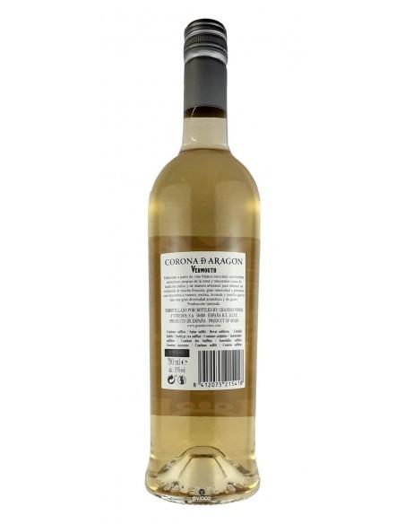 Vermouth Blanco Corona De Aragon 75cl contra-etiqueta