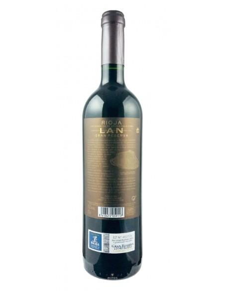 Lan Tinto Gran Reserva 2011 contra etiqueta