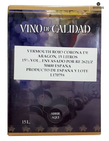 Vermouth Corona Aragon Bag in Box 15L