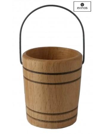 Cubito antigoteo de barril de 16 a 32L. Color Roble
