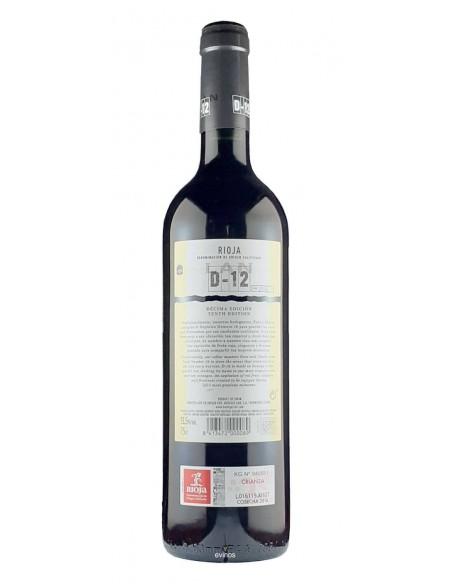 Lan D-12 Tinto contra etiqueta