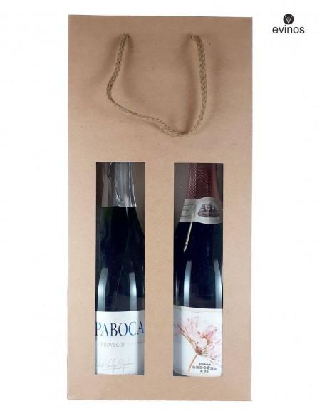 Bolsa Ventana para 2 botellas