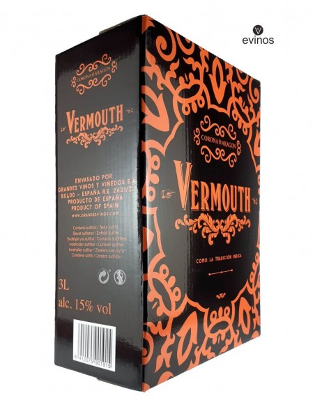 Vermouth Corona Aragon Bag in Box 3L lateral 1