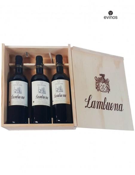 Estuche Madera Lambuena 3 Botellas 3